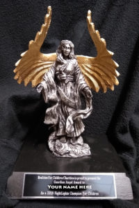 Champions will be presented with a personalized Guardian Angel sculpture by Ricker Designs at the Realities For Children Awards Gala on Apri 4, 2020.