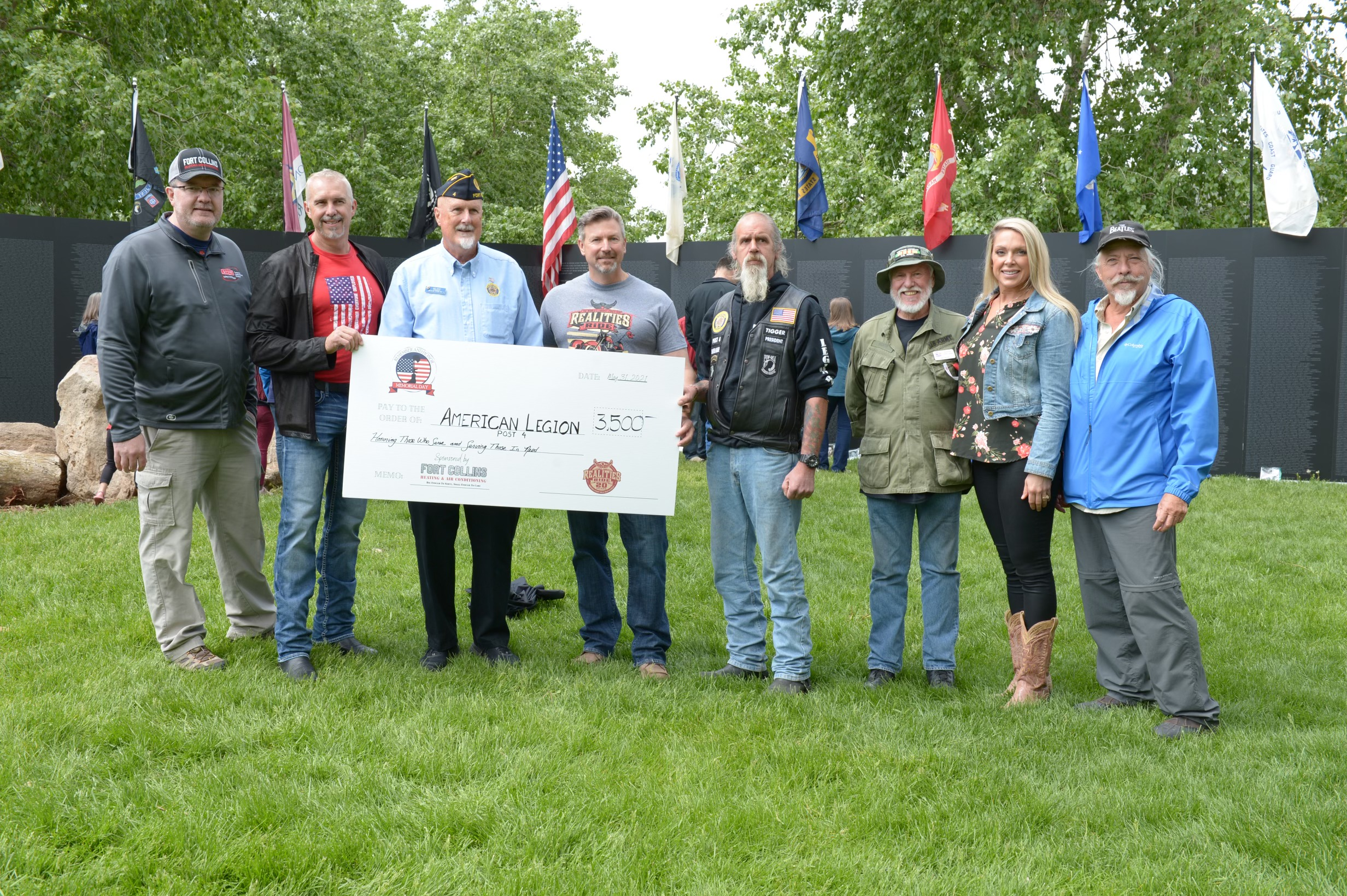 Fort Collins Heating & Air match donation to our local Veterans organizations