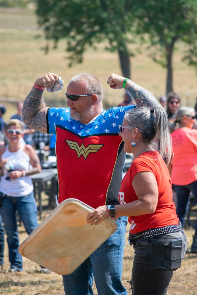 The Forever Family Ride hosted the World's First Skydiver-Biker Relay Rodeo Games.